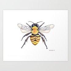 Watercolor Bee Art Print