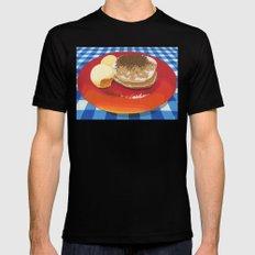 Pancakes Week 15 Mens Fitted Tee Black SMALL