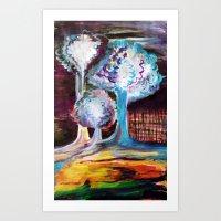 Night Is A World Lit By … Art Print