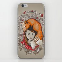 Safe In My Red Riding Ho… iPhone & iPod Skin