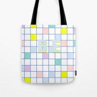 Be Windowpane Grid Tote Bag