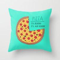 Pizza Pie Chart Throw Pillow