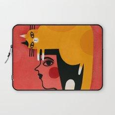 YELLOW CAT HAT Laptop Sleeve