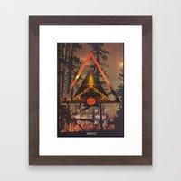 MYSTIC//FIRE Framed Art Print