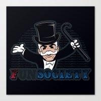 FSociety Canvas Print