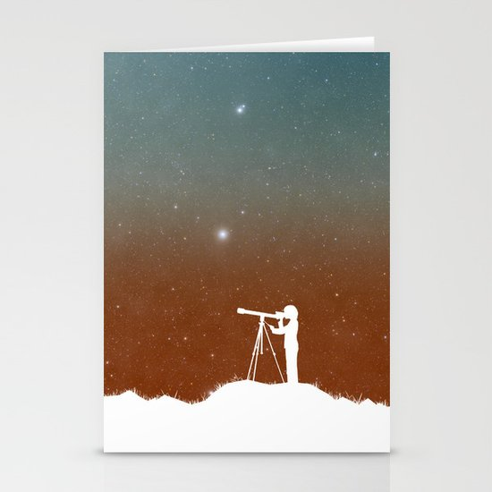 Through the Telescope Stationery Card