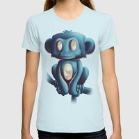 Sunrise Womens Fitted Tee Light Blue SMALL
