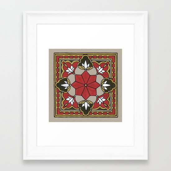 Arabesque n°3 Framed Art Print