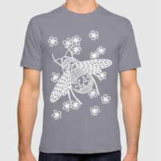 Papercut Bees Mens Fitted Tee Slate SMALL