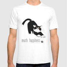 Much Happiness! Mens Fitted Tee White SMALL