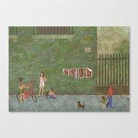 Street (Rue) Canvas Print