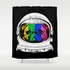 Astronaut Pug Shower Curtain