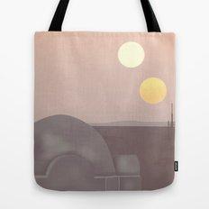 Retro Travel Poster Series - Star Wars - Tatooine Tote Bag