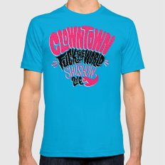 Clowntown Fuck the World Shitshow 2016 Mens Fitted Tee Teal SMALL
