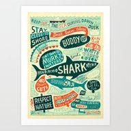 How To Avoid A Shark Att… Art Print