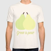 Grow a Pear Mens Fitted Tee Natural SMALL