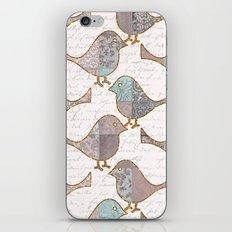 Vintage Birds iPhone & iPod Skin