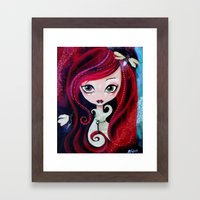 Red Portrait Framed Art Print