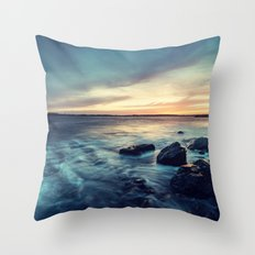 Sunset on the Breakwater Throw Pillow