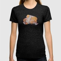 wanderlust map Womens Fitted Tee Tri-Black SMALL