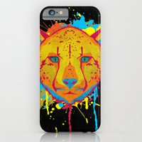 iPhone & iPod Case featuring Cat Series: Cheetah  by UvinArt