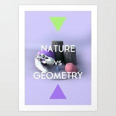 Nature vs Geometry Art Print