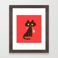 Fitz - Hungry Hungry Cat… Framed Art Print