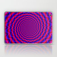 Red And Blue Spiral Laptop & iPad Skin