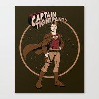 Captain Tightpants Canvas Print