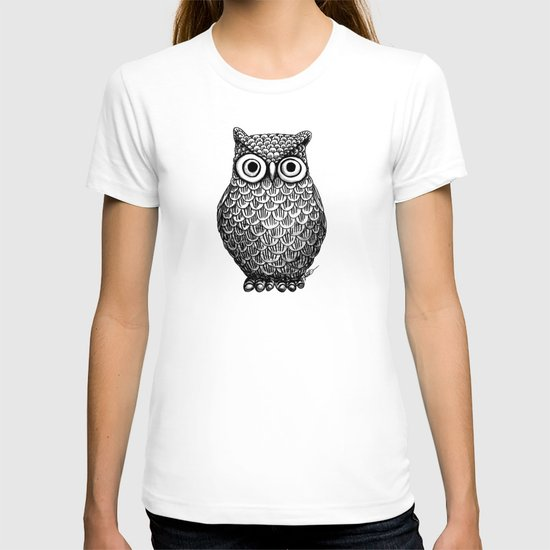 Owl design t shirt by julie erin designs society6 T shirt with owl design