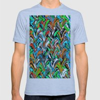 Stucco Sea 1 Mens Fitted Tee Athletic Blue SMALL