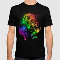 Space Disco Mens Fitted Tee Black SMALL