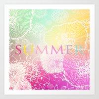 PRISMATIC SUMMER RAINBOW Art Print