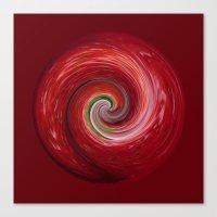 Strawberry ripple Canvas Print