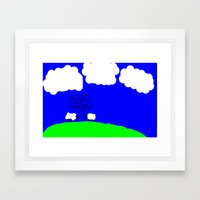 Watching the Clouds Go By Framed Art Print