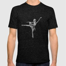 Ballerina Dream Mens Fitted Tee Tri-Black SMALL