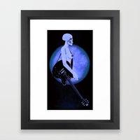 Skull Of Rock/Black Framed Art Print