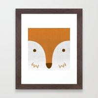 Mr Fleecy Fox Framed Art Print
