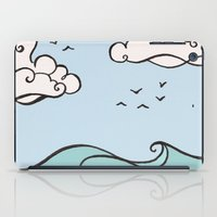 Clouds and Waves iPad Case