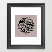 Eat, Play, Love Framed Art Print