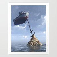 Drydock Art Print