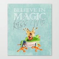 The frog prince.  Canvas Print