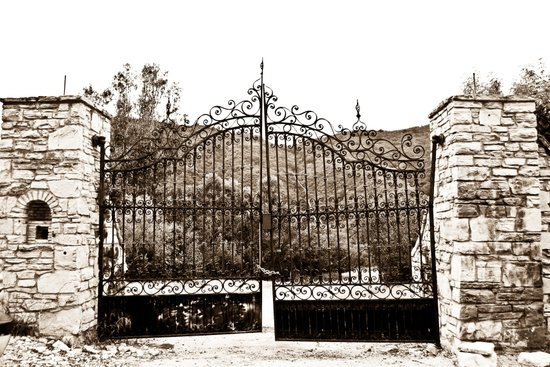 Old Gates Canvas Print
