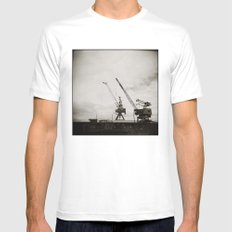 { dancing cranes } Mens Fitted Tee White SMALL
