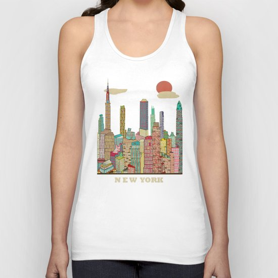 new york blues  Unisex Tank Top