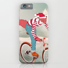 rushing home for christmas iPhone 6 Slim Case
