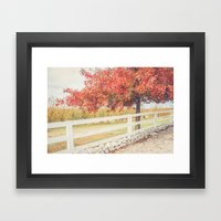 Autumn at the Orchard Framed Art Print
