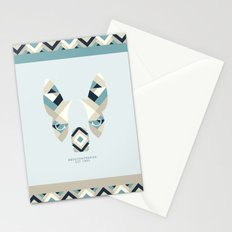 Boston Terrier: Stripes. Stationery Cards