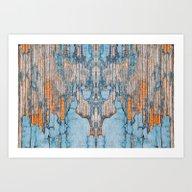 Wood Texture 1E Art Print