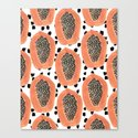 Bold Papayas Canvas Print